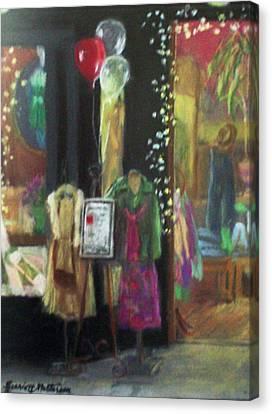 All Dressed Up For Artwalk Canvas Print by Harriett Masterson