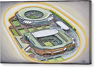 All England Lawn Tennis Club Canvas Print by D J Rogers