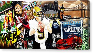All Hail New Orleans Canvas Print by Alonzo Butler