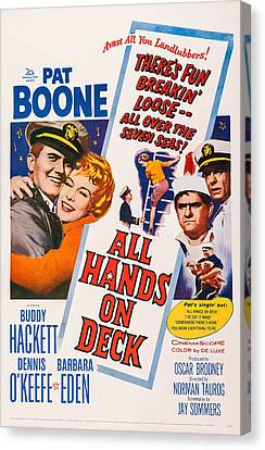 All Hands On Deck, L-r Pat Boone Canvas Print by Everett