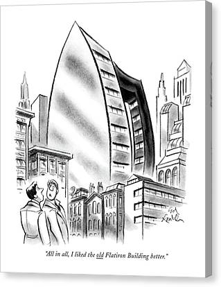 All In All, I Liked The Old Flatiron Building Canvas Print