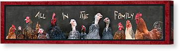 All In The Family Canvas Print by Lori Deiter