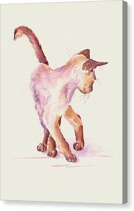 All Legs And Mischief Canvas Print by Debra Hall