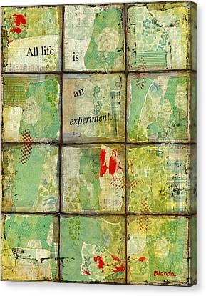 All Life...abstract Art Canvas Print by Blenda Studio