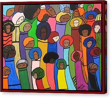 All Of Us Canvas Print by Clarissa Burton