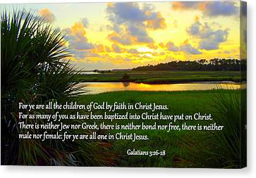 All One In Christ Jesus Canvas Print