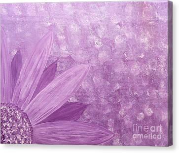 All Purple Flower Canvas Print