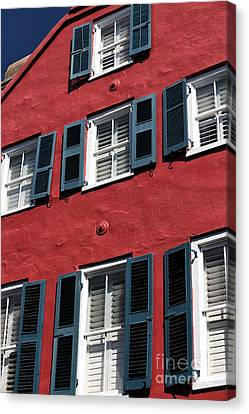 All Red Canvas Print by John Rizzuto