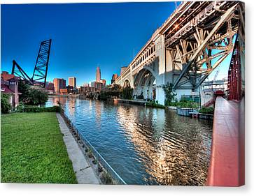 All Roads Lead To Cleveland Canvas Print