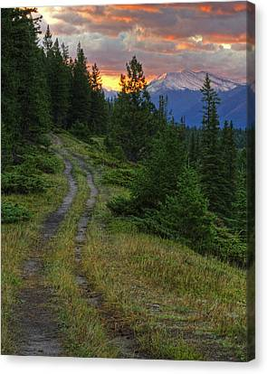 All Roads Lead To Home Canvas Print by Darlene Bushue