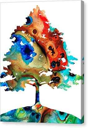 All Seasons Tree By Sharon Cummings Canvas Print by Abstract Art