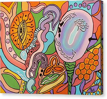 Canvas Print featuring the painting All Seeing Egg Salad by Barbara St Jean
