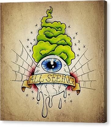 All Seeing Eye Canvas Print by Samuel Whitton