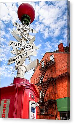 All Signs Point To Little Italy - Boston Canvas Print by Mark E Tisdale