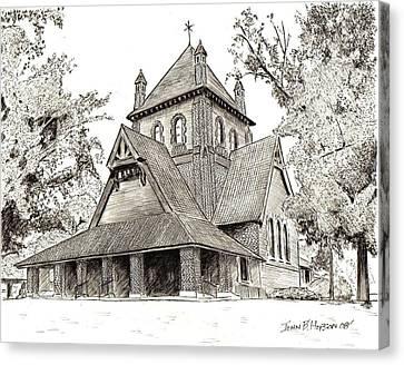 All Souls Church Canvas Print by John Hopson