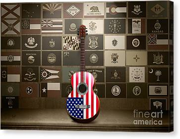 All State Flags - Retro Style Canvas Print by Bedros Awak