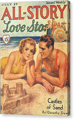 All-story 1920s Usa Holidays Love Canvas Print by The Advertising Archives