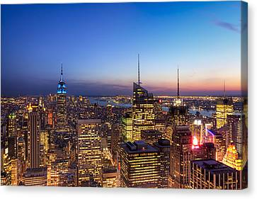 All That Glitters Is Gold - New York City Skyline Canvas Print by Mark E Tisdale