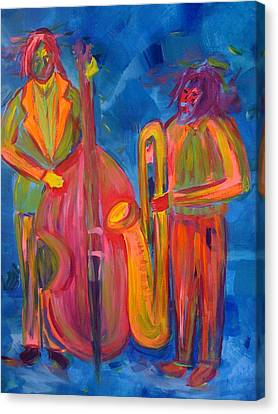 Canvas Print featuring the painting All That Jazz by Judi Goodwin