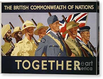 All The Commonwealth Countries Unite. Canvas Print by Paul Fearn