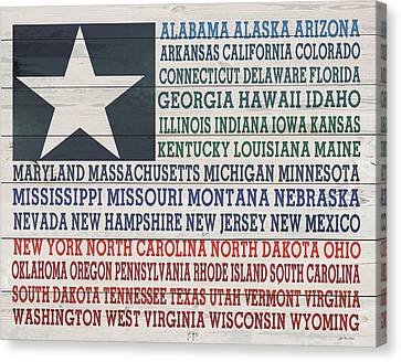 All The States Canvas Print by Jo Moulton