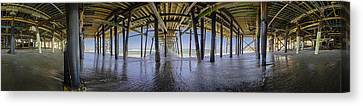 Turquois Water Canvas Print - All The Way Under The Pier by Scott Campbell