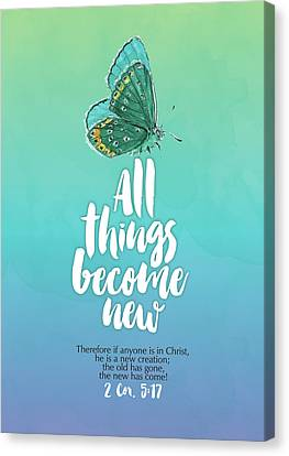 All Things Canvas Print by Tammy Apple