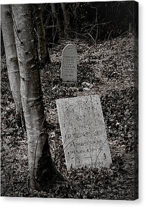 Headstones Canvas Print - All Those Days by Odd Jeppesen