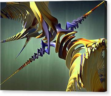 Canvas Print featuring the digital art All Twisted Up by Melissa Messick