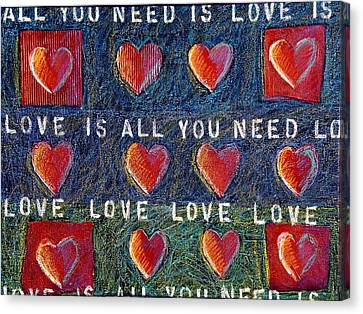 Cardboard Canvas Print - All You Need Is Love 2 by Gerry High
