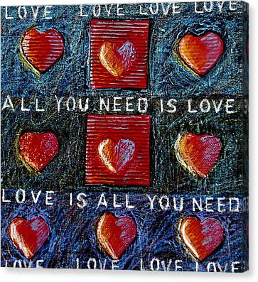 Cardboard Canvas Print - All You Need Is Love 3 by Gerry High