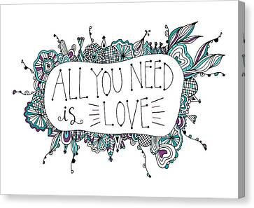 All You Need Is Love Canvas Print by Susan Claire