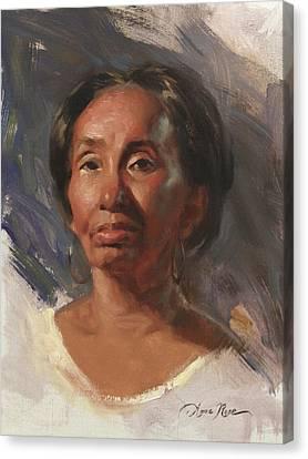 Alla Prima Ann Canvas Print by Anna Rose Bain