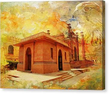 Allama Iqbal Tomb Canvas Print by Catf