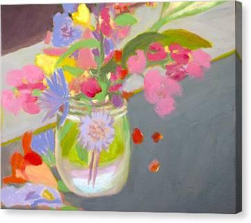Water Jars Canvas Print - Alleghany Mason Jar by Molly Fisk