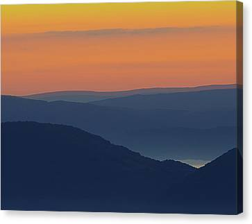 Allegheny Mountain Morning Canvas Print by Michael Donahue