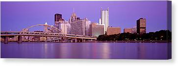 Allegheny River Pittsburgh Pa Canvas Print by Panoramic Images