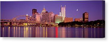 Allegheny River, Pittsburgh Canvas Print by Panoramic Images