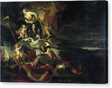Allegorical Representation Of The Expedition To Chatham Canvas Print by Litz Collection
