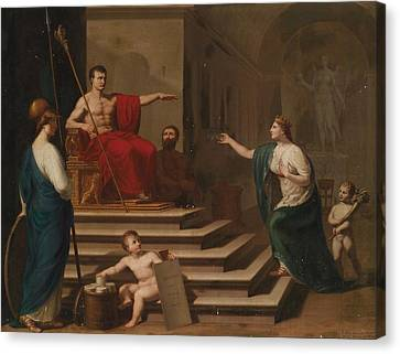Allegory Of Napoleon As A Liberator Of Italy Canvas Print by Celestial Images