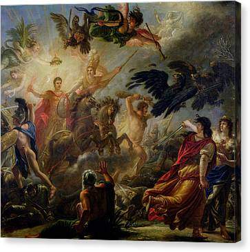 Allegory Of The Battle Of Austerlitz, 2nd December 1805 Oil On Canvas Canvas Print by Antoine Francois Callet