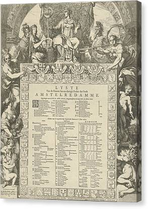 Family Crest Canvas Print - Allegory Of The Board Of The City Of Amsterdam by Gerard De Lairesse And Jacobus Robijn