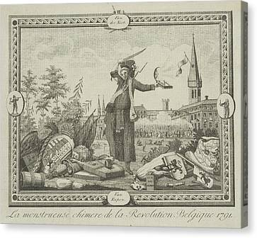 Allegory Of The Brabant Revolution, 1791 Canvas Print by Anonymous