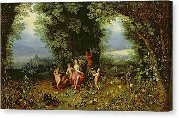 Allegory Of The Earth Canvas Print by Brueghel and Balen
