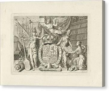 Musica Canvas Print - Allegory Of The Majority Of William V, 1766 by Cornelis Van Noorde