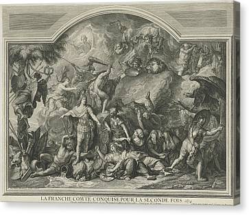 Allegory Of The Reconquest Of Franche-comt Canvas Print by Litz Collection