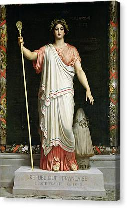 Allegory Of The Republic, 1848 Oil On Canvas Canvas Print by Dominique Louis Papety