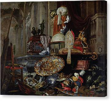 Tomb Canvas Print - Allegory Of The Vanities Of The World, 1663 Oil On Canvas by Pieter or Peter Boel