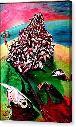 Allegory On Russia Canvas Print by Vladimir A Shvartsman