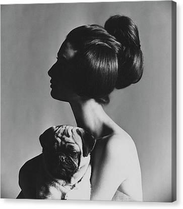 Pug Dog Canvas Print - Allegra Caracciolo Di Castagneto by Karen Radkai